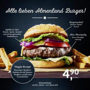 Donnerstag ist Almenland Burger Day!